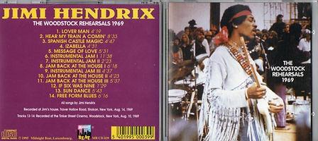 jimi hendrix bootlegs cd album/the woodstock rehearsals 1969