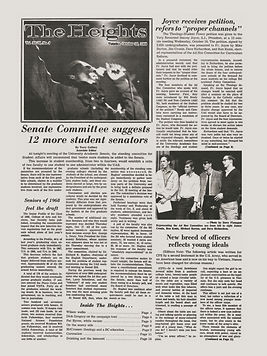 jimi hendrix newspaper 1968 / boston college heights october 22,1968