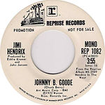 jimi hendrix singles/promo johnny b.goode reprise records