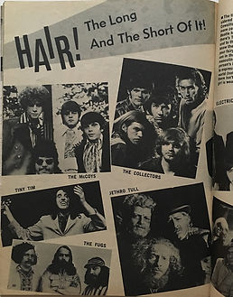 jimi hendrix magazines 1969/teen stras yearbook:hair ! the long and the short of it!