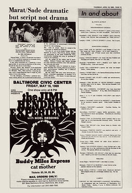 jimi hendrix newspapers 1969/ the diamondback : april 10, 1969