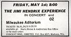 jimi hendrix memorabilia 1970 /ad 1970