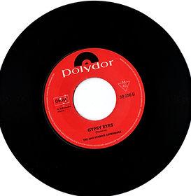 jimi hendrix collector vinyls singles 45t/gypsy eyes polydor 1968