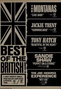 jimi hendrix magazines  1967 / cash box april 22, 1967 ad hey joe