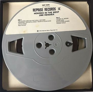 jimi hendrix reel to reel/ in the west 1971