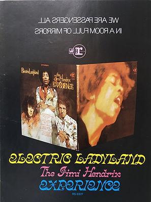 jimi  hendrix magazine 1968/electric ladyland  AD