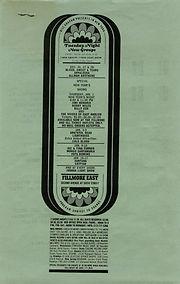 jimi hendrix memorabilia 1970 / flyer jan. 1, 1970 fillmore east