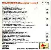 jimi hendrix collector cd bootlegs/ wild man of pop plays volume 2