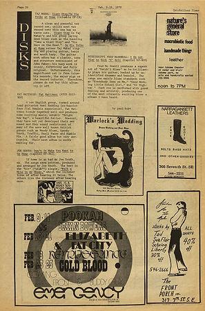 jimi hendrix newspaper 1970 /quicksiver times  feb. 9-19, 1970