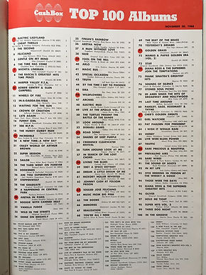 jimi hendrix magazine 1968/cash box november 30 1968 top 100 albums