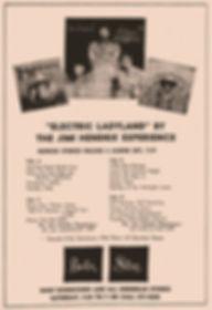 jimi hendrix memorabilia 1968/AD electyric ladyland  1968