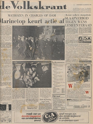 jimi hendrix newspapers 1970/ de volkskrant augt. 26, 1970
