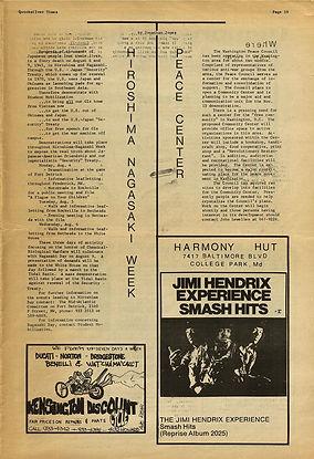 jimi hendrix newspaper 1969/quicksilver times july 21-31 1969 / ad album: smash hits