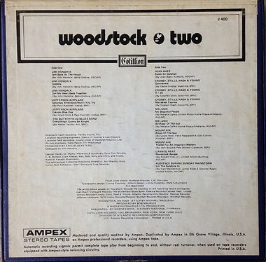 jimi hendrix reel to reel /woodstock 2