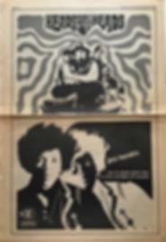 jimi hendrix newspaper/rolling stone september 28 1968