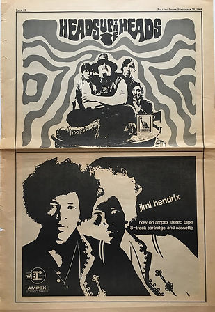 jimi hendrix newspaper/rolling stone september 28 1968