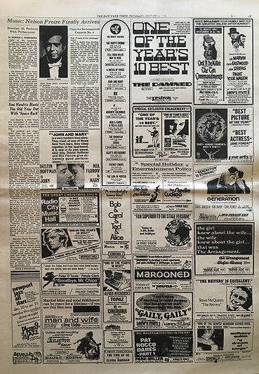 jimi hendrix newspapers 1970 / the new york times january 1, 1970
