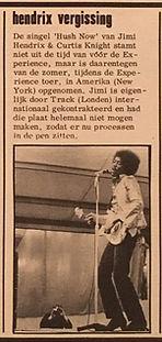 jimi hendrix collector newspapers/hit week 1/12/1967