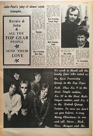 jim hendrix newspaper 1968/top pops december 21 1968