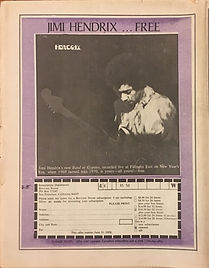 jimi hendrix rotily newspapres collector/rolling stone 1970