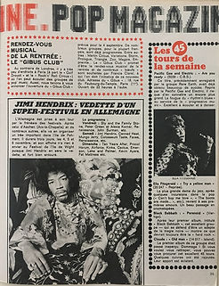 jimi hendrix magazines 1970 / superhebdo august 27,1970