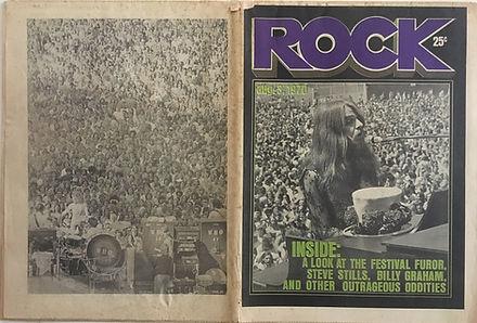jimi hendrix memorabilia 1970/ rock august 3, 1970
