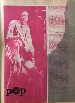 jimi hendrix collector magazines 1970/ telecran  december 1970