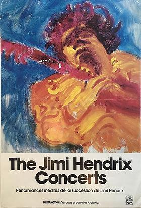 jimi hendrix memorabilia / handbill the jimi hendrix concerts vinyls 1982