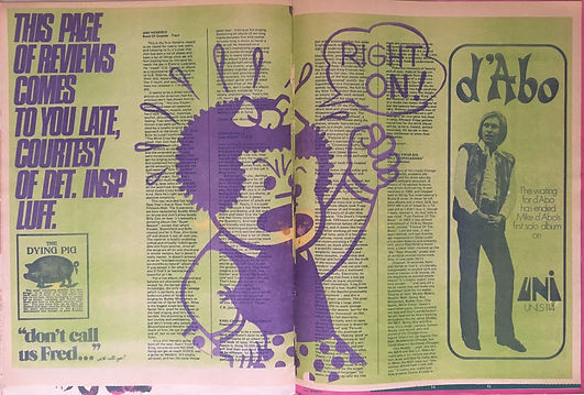 "jimi hendrix magazines 1970 / oz july 1970 "" review band of gypsys """