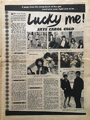 jimi hendrix newspaper/cue 23/3/1968