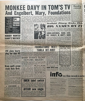 jimi hendrix newspaper1969/new musical express january 11 1969