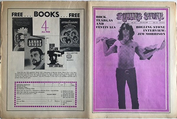 jim hendrix newspaper 1969/rolling stone july 26 1969  u.s.a edition