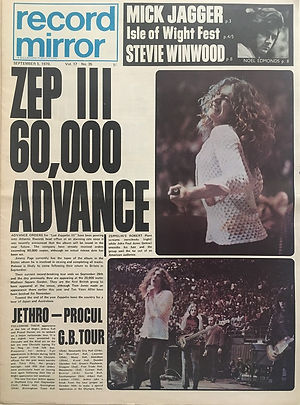 jimi hendrix newspaper 1970 / record mirror : september 5, 1970