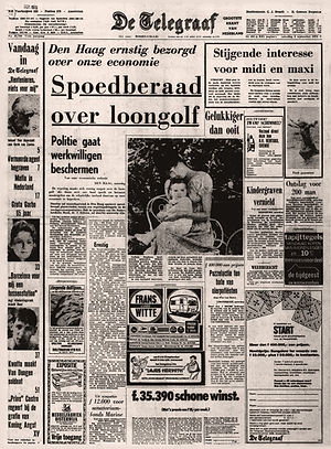 jimi hendrix newspaper 1970 / de telegraaf  september 5, 1970