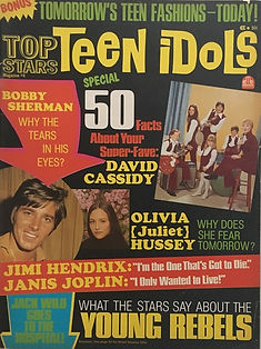 jimi hendrix magazines 1970 death/ teen idols 1970
