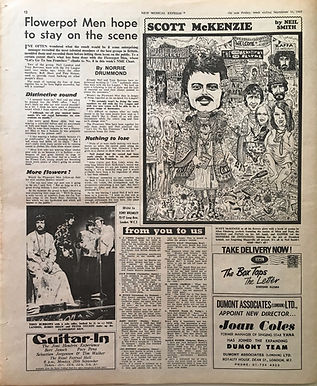 jimi hendrix collector newspapers/guitar-in AD/new musical express