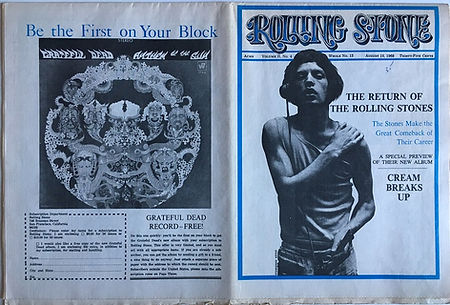 jimi hendrix newspapers/rolling stone august 10 1968