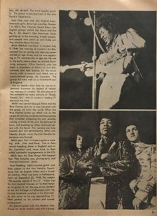 jimi hendrix magazines 1970 death/ rock & soul   yearbook 1970 / jimi hendrix experience