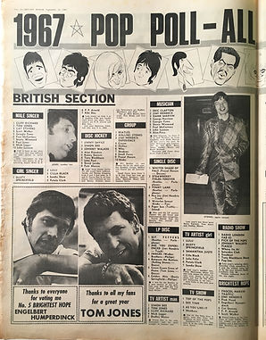 jimi hendrix collector newspapers/pop poll all the winners 1967 melody maker /23/9/1967