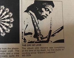 jimi hendrix collector / ad warner/reprise : the cry of love