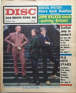 jimi hendrix newspaper/disc and music echo 6/1/1968