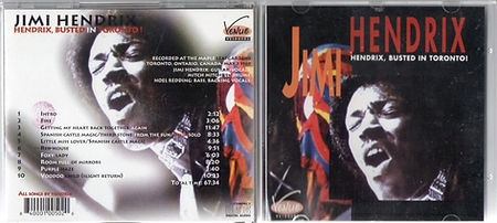 jimi hendrix bootlegs cd 1969/hendrix busted in toronto