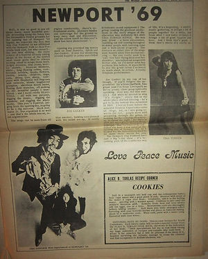 jimi hendrix newspaper 1969/world countdown june 27,1969 /newport pop festival 69