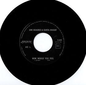 jimi hendrix collector singles 45t vinyls/how would you feel /1967 belgium