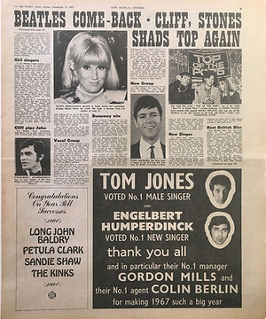 new musical express 9/12/67 jimi hendrix newspaper/poll supplement