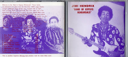 jimi hendrix bootlegs cds 1969 / band of gypsys rehearsalsthe baggy's rehearsal sessions