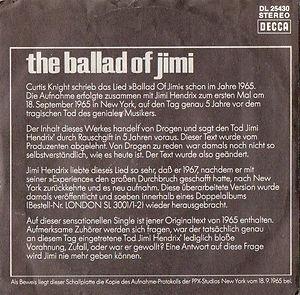 jimi hendrix vinyls singles colector/the ballad of jimi/decca germany 1970