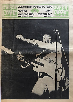 jimi hendrix 1968 newspaper/denmark/super love october 1968