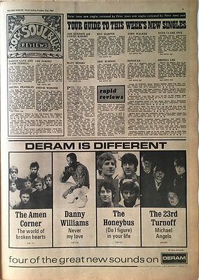 jimi hendrix collector newspaper/new singles 21/10/1967 record mirror