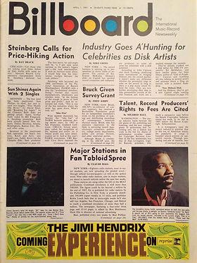 jimi hendrix rotily magazine/ billboard  1/4/1967